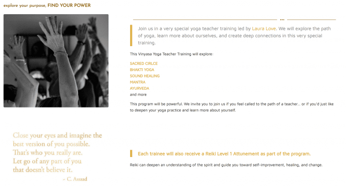 dyh website page